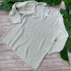 Lucky Brand V Neck Knit Pullover Sweater Top XXL